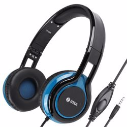 Zoook Sublime Wired Headphone with Mic & extra BASS - Black+Blue preview