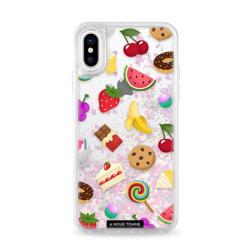 CASETIFY Glitter Case Unicorn Sweet Emojis for iPhone XS/X