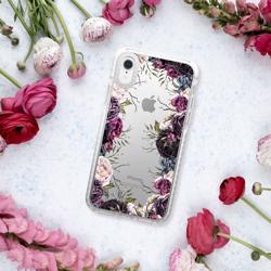 CASETIFY iPhone XR Impact Case Dark Floral