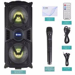 Zoook Rocker Thunder 40 watts Bluetooth Speaker with Karaoke Mic/TF/FM/LED/USB/Party Speaker - Black preview