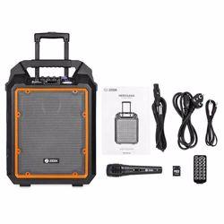 Zoook Rocker Herculean 200 watts Bass Machine Party Bluetooth Speaker with Karaoke Mic, Remote and Built in Amplifier(Black/Orange) preview