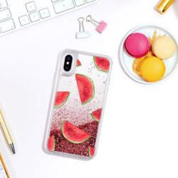 CASETIFY Glitter Case Watermelon Shuffle for iPhone XS/X