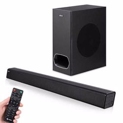 Zoook Rocker Studio One 130 watts Wireless Bluetooth SoundBar with Subwoofer, HDMi Arc, Fiber Optic Cable (Black) preview