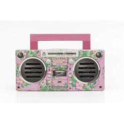 GPO Bronx Boombox Bluetooth Portable Speaker Pink