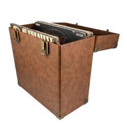 GPO Retro 12 inch Vinyl Case Brown