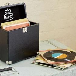 GPO Retro 12 inch Vinyl Case Black