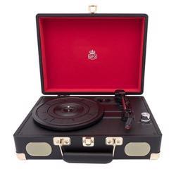 GPO Soho Vinyl Record Player + Built-in Speaker Black