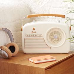 GPO Rydell Four Band Radio Player Cream