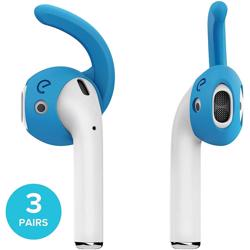 KEYBUDZ EarBudz 2.0 Ear Hooks and Covers Accessories 3 Pairs for AirPods 1 & 2 - Sky Blue