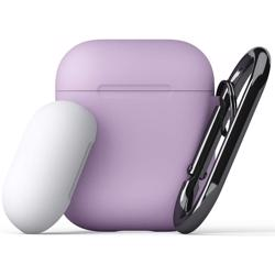 KEYBUDZ PodSkinz Switch Case with Carabiner for AirPods 1 & 2 - Lavender