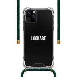 LOOKABE Necklace Clear Case with Cord for iPhone 11 Pro - Green