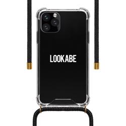 LOOKABE Necklace Clear Case with Cord for iPhone 11 Pro Max - Black