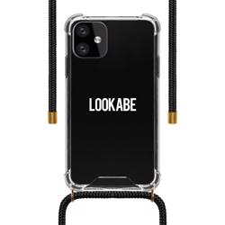 LOOKABE Necklace Clear Case with Cord for iPhone 11 - Black