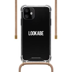 LOOKABE Necklace Clear Case with Cord for iPhone 11 - Nude