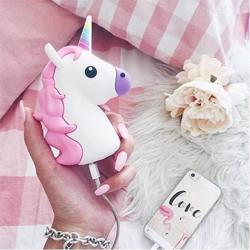 MOJIPOWER External Battery Portable Charger 2600 mAh Power Bank Unicorn
