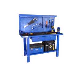 GAZELLE - G2605 59 Inch Steel Workbench with pegboard and drawers preview