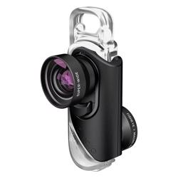 OLLOCLIP 3-In-1 Lens With Pendant And Stand Black / Black for iPhone 8-7/8-7 Plus