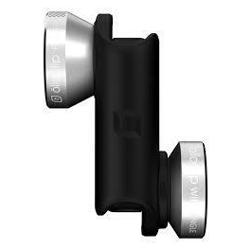 OLLOCLIP 4-IN-1 Lens With Pendant Silver Lens/Black Clip - For iPhone 6/6Plus