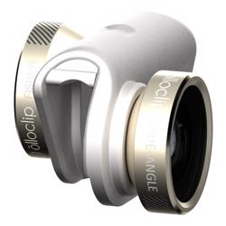 OLLOCLIP 4-IN-1 Lens With Pendant-Gold Lens/White Clip - For iPhone 6/6PLUS