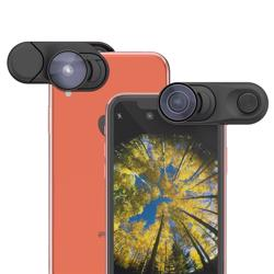 OLLOCLIP Fisheye + Super-Wide + Macro Essential Lenses For iPhone XR