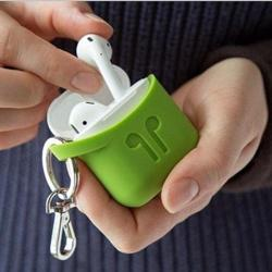 PODPOCKET Silicone Case for Apple AirPods Pear Green