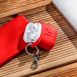 PODPOCKET Silicone Case for Apple AirPods Blazing Red