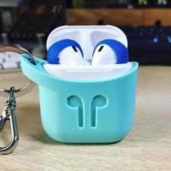 PODPOCKET Silicone Case for Apple AirPods Aqua Blue