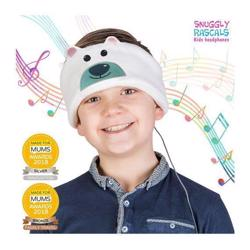 SNUGGLY RASCALS Ultra-Comfortable & Size Adjustable Headphones for Kids POLAR BEAR Christmas Edition
