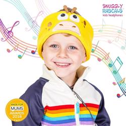 SNUGGLY RASCALS Ultra-Comfortable & Size Adjustable Headphones for Kids GIRAFFE