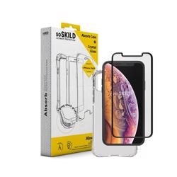 SO SKILD iPhone XS/X Absorb Impact Case Transparent & Tempered Glass Screen Protector