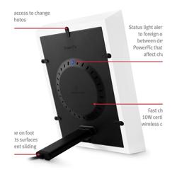 TWELVE SOUTH PowerPic Wireless Charging Photoframe White