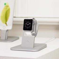 TWELVE SOUTH HiRise Charging Stand for Apple Watch Silver