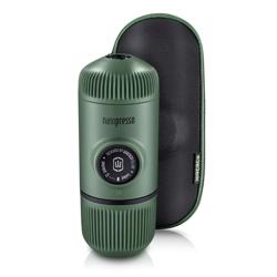 WACACO Nanopresso Portable Espresso Maker Bundled with Protective Case Moss Green
