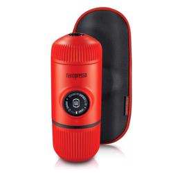 WACACO Nanopresso Portable Espresso Maker Bundled with Protective Case Lava Red