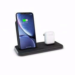 ZENS Aluminium Dual Wireless Charger + Dock 10W - Black