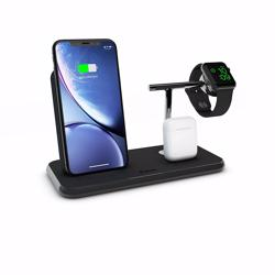 ZENS Stand+Dock+Watch Aluminium Wireless Charger 10W - Black