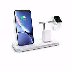 ZENS Stand+Dock+Watch Aluminium Wireless Charger 10W - White