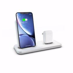 ZENS Aluminium Dual Wireless Charger + Dock 10W - White