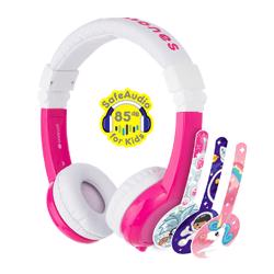 BuddyPhones Unicorn Foldable with Mic Pink
