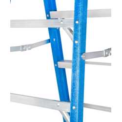 GAZELLE - 6Ft. Fiberglass Step Ladder for working height up to 10 Ft. preview