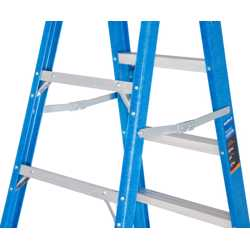GAZELLE - 12 Ft. Fiberglass Step Ladder for working height up to 16 Ft. preview