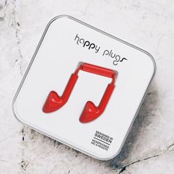 HAPPY PLUGS Earbuds Red
