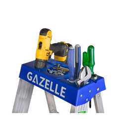 GAZELLE - 12 Ft. Aluminium Step Ladder for working height up to 15 Ft. preview