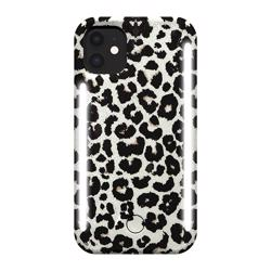 LUMEE Duo Phone Case with Selfie Light for iPhone 11 - Leopard Glitter