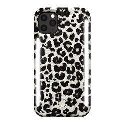 LUMEE Duo Phone Case with Selfie Light for iPhone 11 Pro - Leopard Glitter