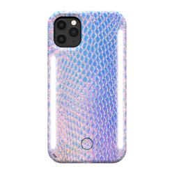 LUMEE Duo Phone Case with Selfie Light for iPhone 11 Pro Max - Mermaid