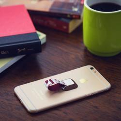 UNGRIP Phone Holder Wood Mustache