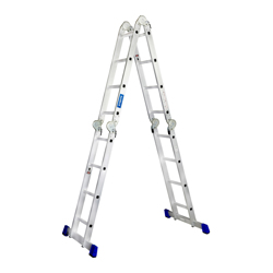 GAZELLE - 11 Ft. Aluminium Ladder 4 section 4 x 3 steps