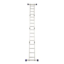 GAZELLE - 11 Ft. Aluminium Ladder 4 section 4 x 3 steps preview