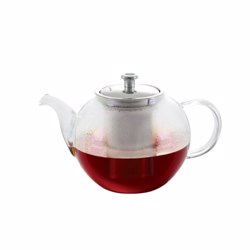 Royalford RF8266 Glass Tea Pot with Stainless Strainer, 1200ml